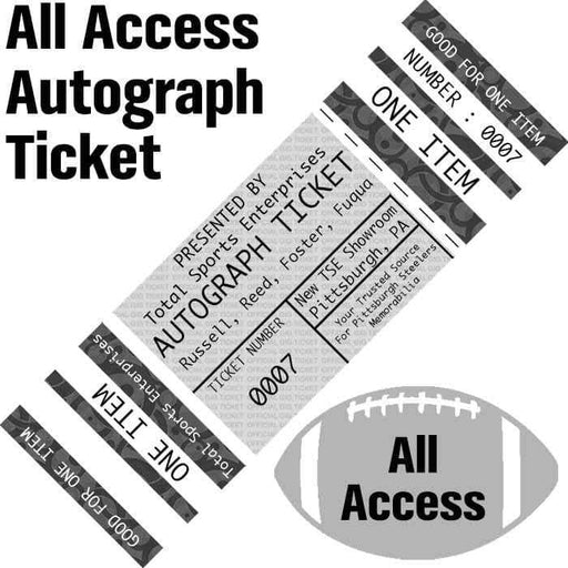 ALL ACCESS AUTOGRAPH-TICKET: Get ANY Item Of YOURS Signed IN PERSON by Russell, Reed, Foster and Fuqua