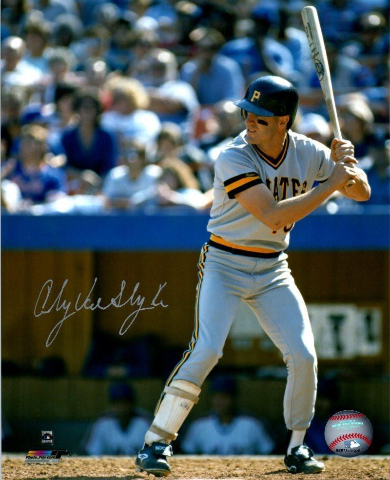 Andy Van Slyke Autographed Ready to Swing 8x10 Photo