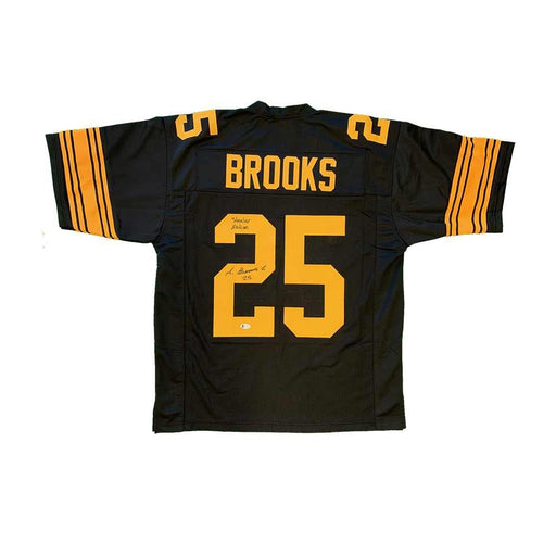Antoine Brooks Signed Custom Alternate Jersey with FREE Steeler Nation Inscription