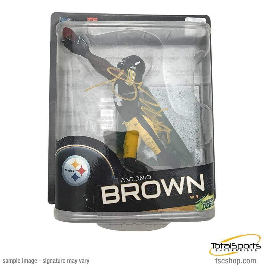 Signed STEELERS Other Items Antonio Brown Autographed Outstretched Arms in Black McFarlane