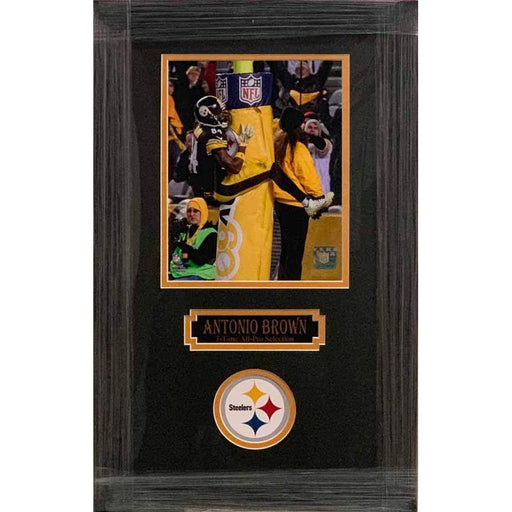 Antonio Brown Goal Post Leap Vertical Unsigned 8x10 - Professionally Framed Default Title
