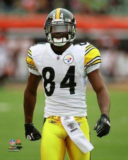 Antonio Brown In White Arms to Side Unsigned Licensed 16x20 Photo