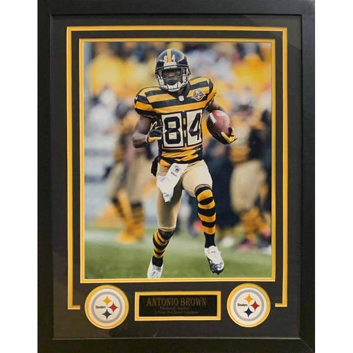 Antonio Brown Running in Bumblebee Unsigned 16x20 - Professionally Framed