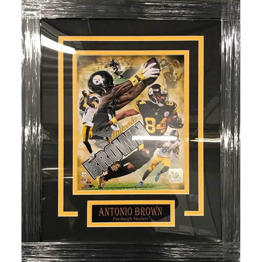 Antonio Brown UNSIGNED Professionally Framed Collage 8x10 Photo