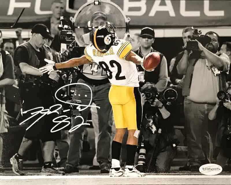 Antwaan Randle-El Autographed In Endzone Spotlight 8x10 Photo