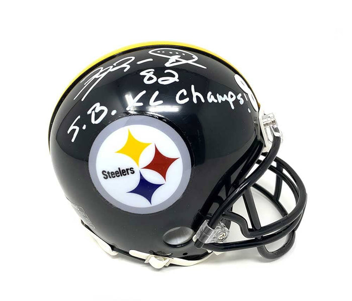 Antwaan Randle-El Autographed Pittsburgh Steelers Black Mini Helmet with SB XL CHAMPS