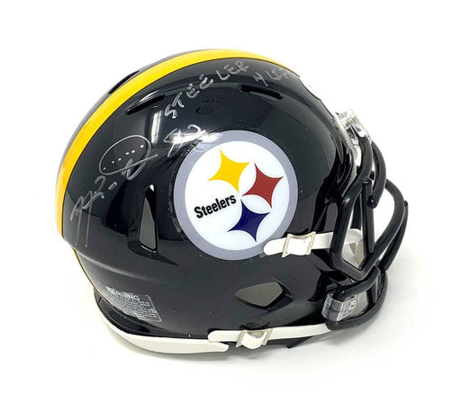 Antwaan Randle-El Autographed Pittsburgh Steelers Black SPEED Mini Helmet with Steeler 4 Life