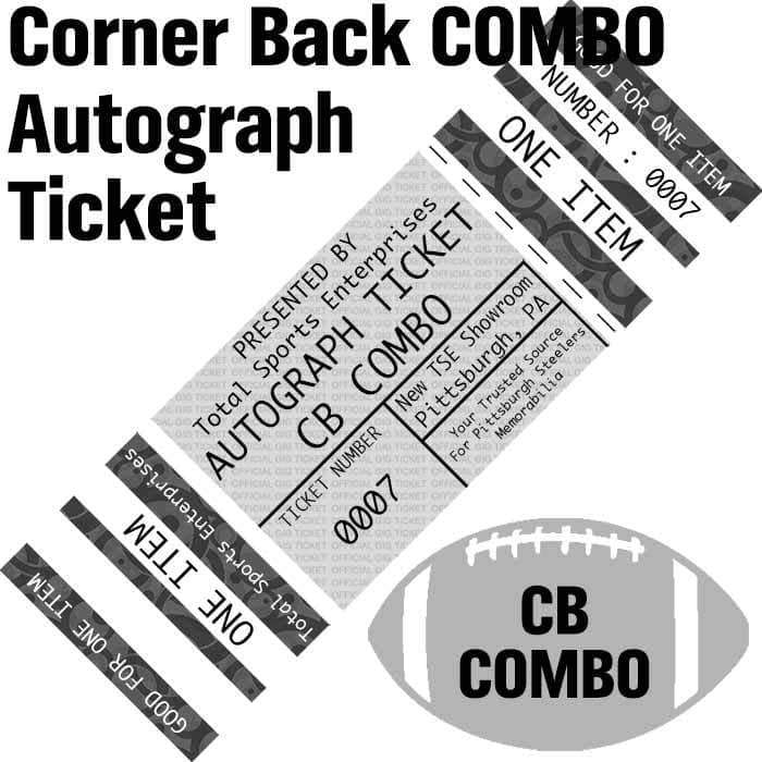 AUTOGRAPH-TICKET: CORNER BACK COMBO Get ANY Item Of YOURS Signed IN PERSON by Justin Layne and Steven Nelson