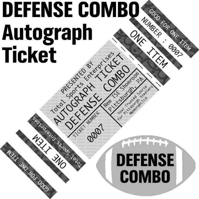 AUTOGRAPH-TICKET: DEFENSE COMBO - Get ANY Item Of YOURS Signed IN PERSON by Brett Keisel and Aaron Smith