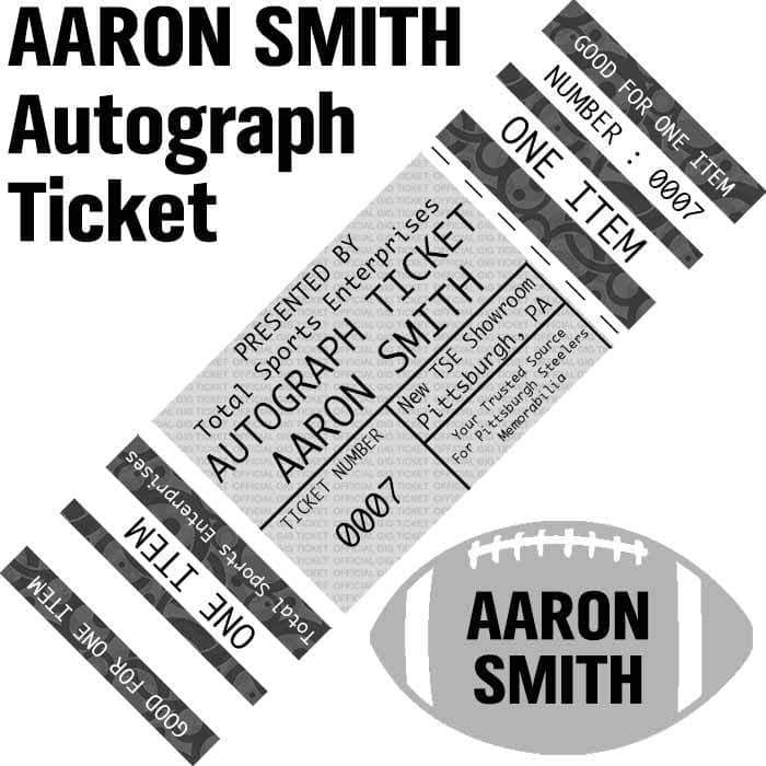 AUTOGRAPH-TICKET: Get ANY Item Of YOURS Signed IN PERSON by Aaron Smith