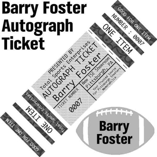 AUTOGRAPH-TICKET: Get ANY Item Of YOURS Signed IN PERSON by Barry Foster