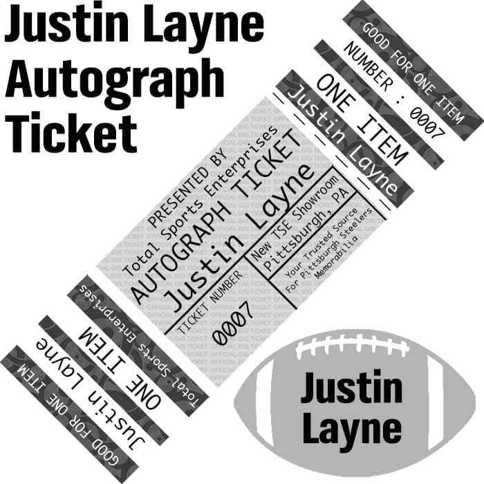 AUTOGRAPH-TICKET: Get ANY Item Of YOURS Signed IN PERSON by Justin Layne