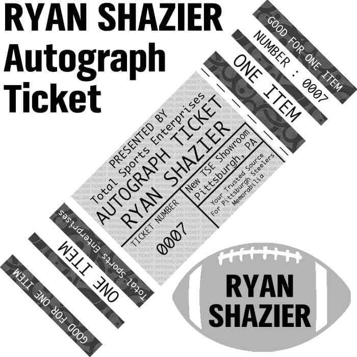 AUTOGRAPH-TICKET: Get ANY Item Of YOURS Signed IN PERSON by Ryan Shazier