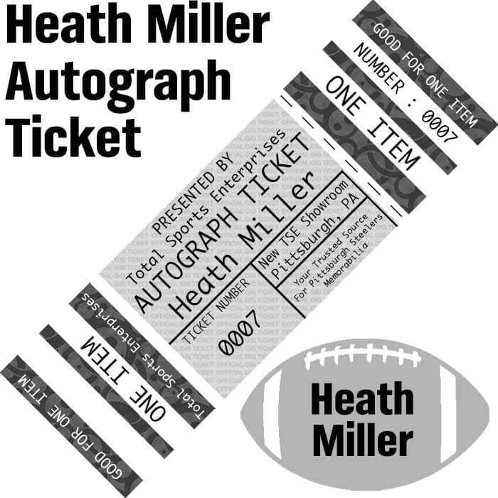 AUTOGRAPH TICKET: Get YOUR Premium Item Signed IN PERSON by Heath Miller