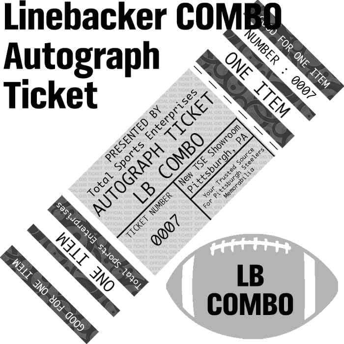 AUTOGRAPH-TICKET: LINEBACKER COMBO - Get ANY Item Of YOURS Signed IN PERSON by Devin Bush and Ryan Shazier