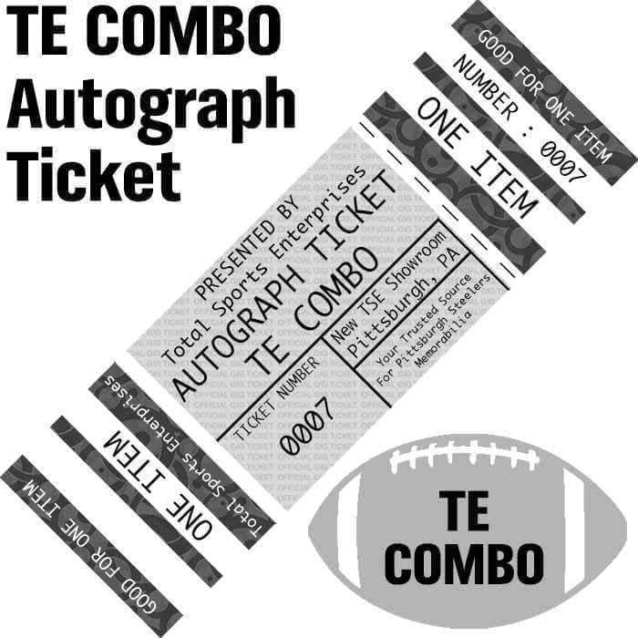 AUTOGRAPH TICKET: TIGHT END COMBO - ANY ITEM Signed by GENTRY and MCDONALD and Premium Item Signed by Heath Miller IN PERSON