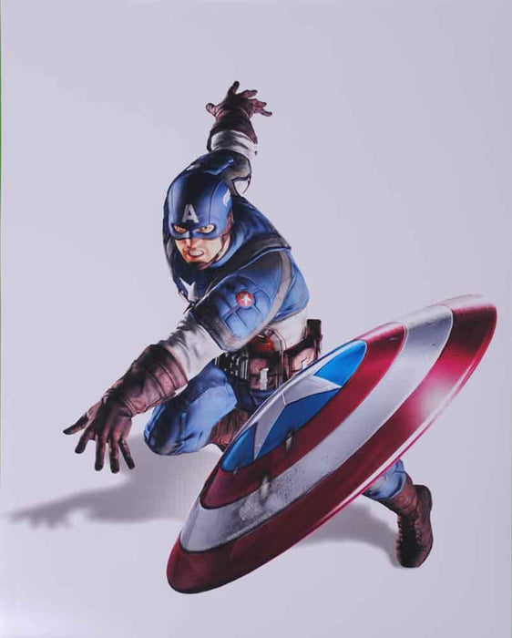 Avengers Captain America Throwing Sheild 16x20 Photo - Unsigned