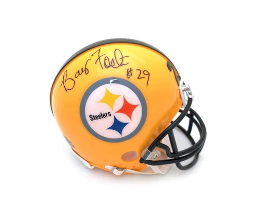Barry Foster Autographed Pittsburgh Steelers 75th Anniversary Mini Helmet