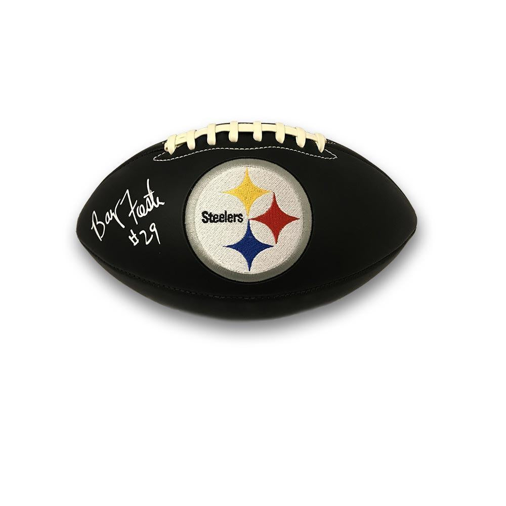 b7f63fc47 Barry Foster Autographed Pittsburgh Steelers Black Matte Logo Football -  TSEShop