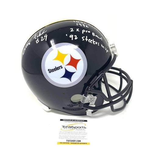 Barry Foster Autographed Pittsburgh Steelers Full Size Mini Helmet with Multiple Inscriptions