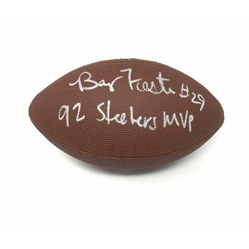 Barry Foster Autographed Replica Football With 92 Steelers Mvp