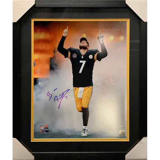 Ben Roethlisberger Signed Entrance in Black 16 x 20 Photo - Professionally Framed