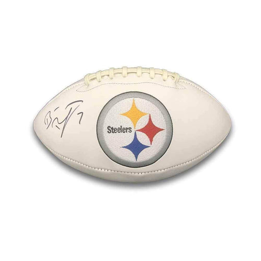 Ben Roethlisberger Signed Pittsburgh Steelers White Logo Football