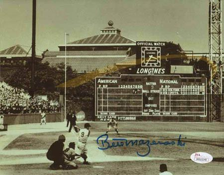 Bill Mazeroski 1960 World Series Home Run Swing 8x10 Photo - Signed