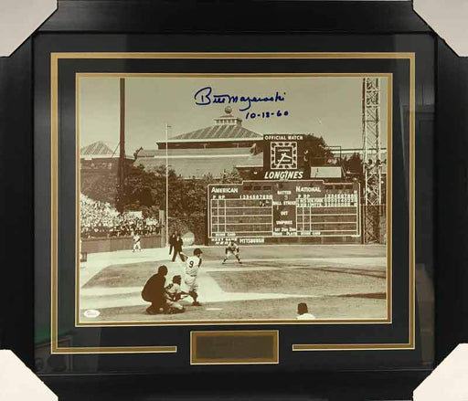 Bill Mazeroski Autographed 1960 Homerun 16X20 Photo - Professionally Framed