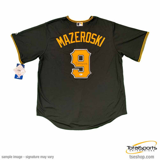 Bill Mazeroski Autographed Authentic Pittsburgh Pirates Black Jersey