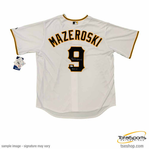 Bill Mazeroski Autographed Authentic Pittsburgh Pirates White Jersey