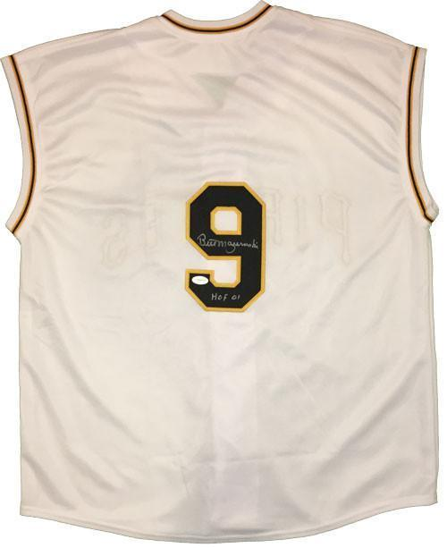 Bill Mazeroski Autographed Custom 1960 White Vest Inscribed 'HOF 01'