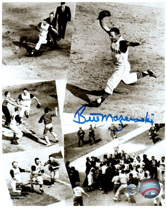 Bill Mazeroski Autographed Homerun Collage 8x10 Photo