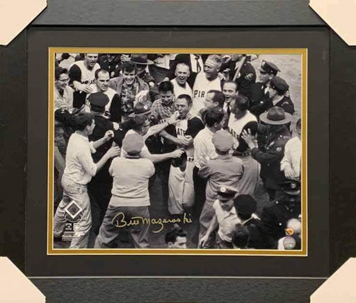 Bill Mazeroski Autographed Mobbed at Home Plate16x20 Photo (No Nameplate) - Professionally Framed