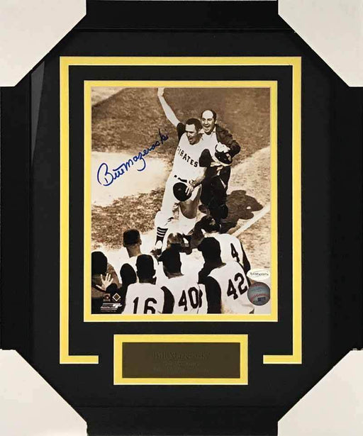 Bill Mazeroski Autographed Pre-Mobbed 8x10 Photo - Professionally Framed
