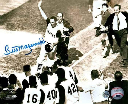 Bill Mazeroski Autographed Pre-Mobbed Horizontal 11x14 Photo