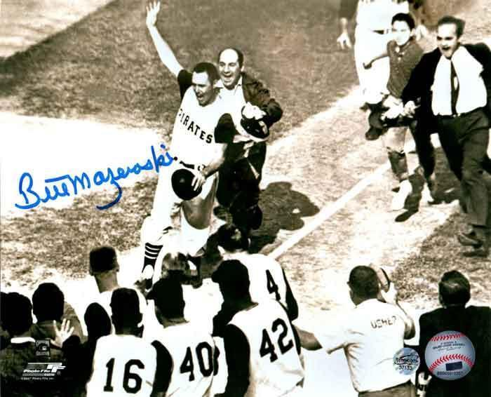 Bill Mazeroski Autographed Pre-Mobbed Horizontal 8x10 Photo