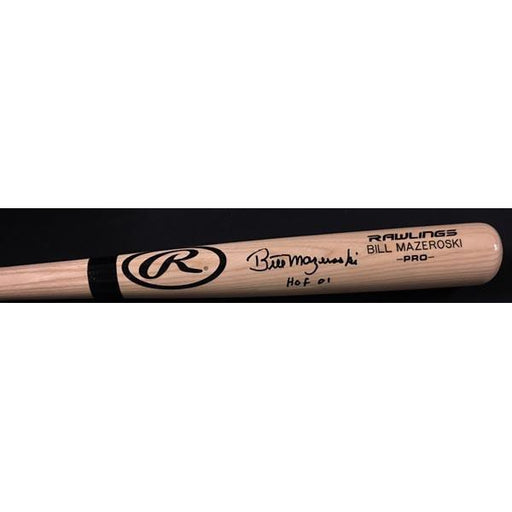 Bill Mazeroski Rawlings Blonde Personal Model Bat - Signed and inscribed 'HOF 01'