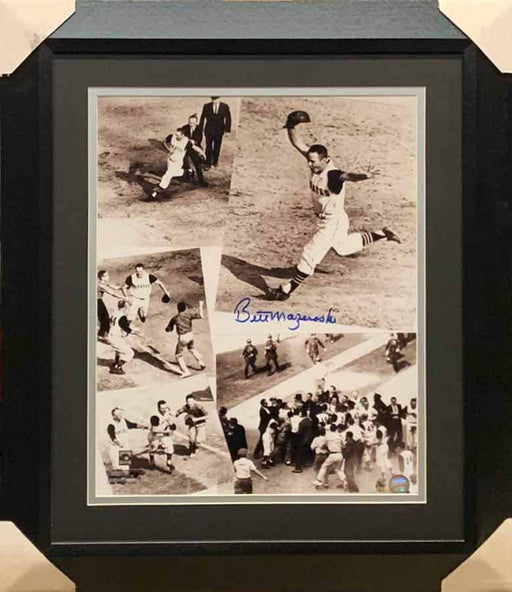 Bill Mazeroski Signed Home Run Collage 16x20 Photo - Professionally Framed