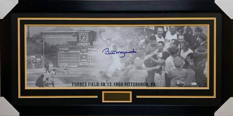 Bill Mazeroski Signed Limited Edition Panoramic Photo - Professionally Framed