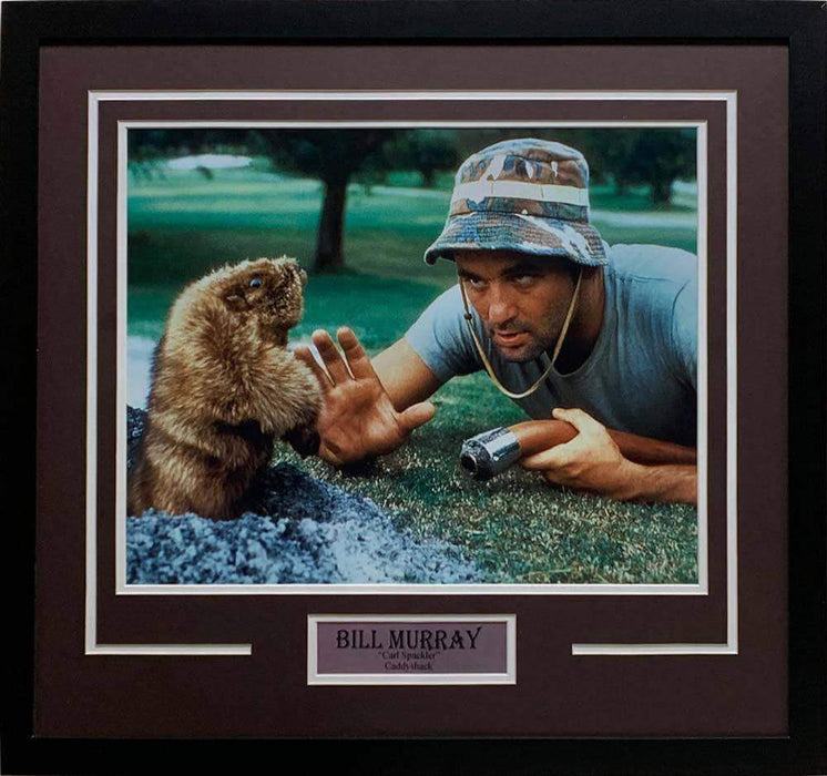 "Bill Murray ""Carl Spackler"" Talking with Gopher Unsigned 16x20 Photo - Professionally Framed"
