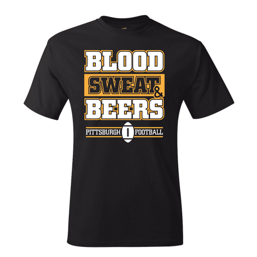 Fan Apparel STEELERS Blood, Sweat & Beers Pittsburgh Football T-shirt