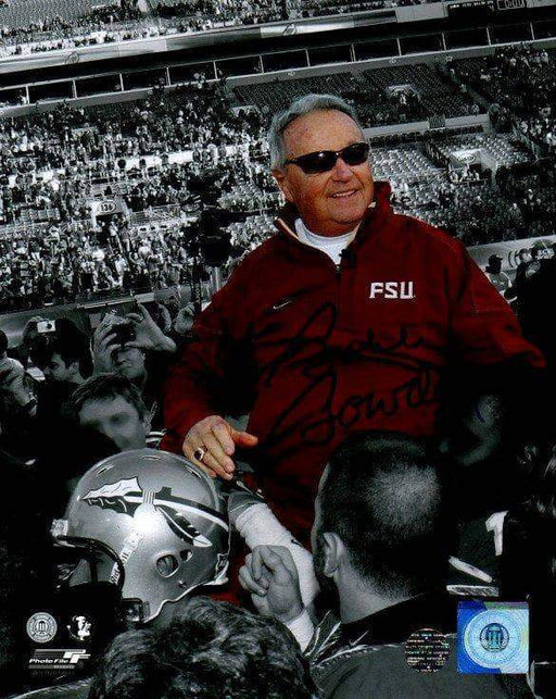 Bobby Bowden Signed FSU On Shoulders Spotlight Signed 8x10 Photo