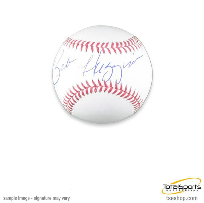 Bobby Huggins Signed MLB Baseball