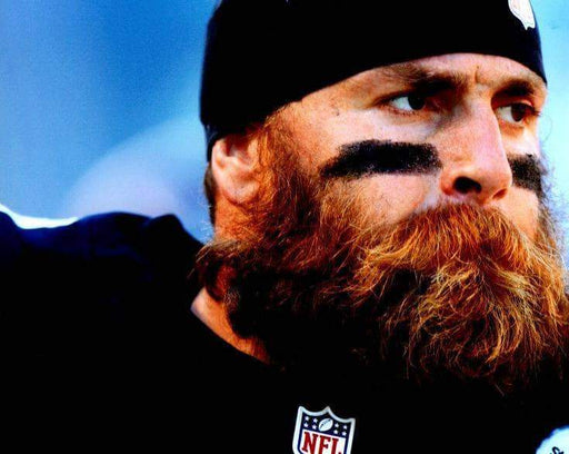 Brett Keisel Close Up w/ Beard in Black Horizontal Unsigned 8x10 Photo