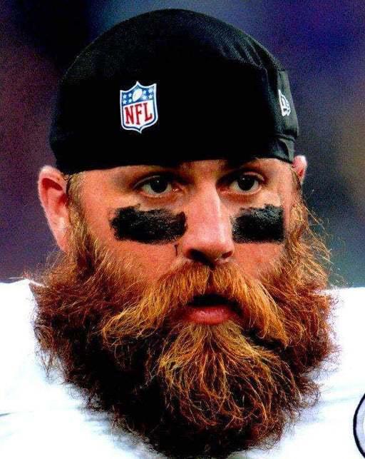 Brett Keisel Close Up with Beard Vertical Unsigned 8x10 Photo
