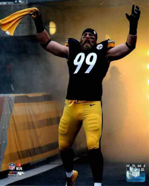 Brett Keisel Entrance with Terrible Towel Unsigned 11x14 Photo