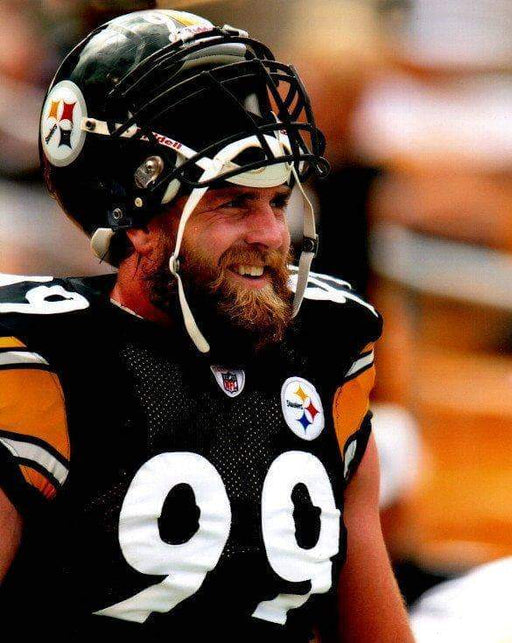Brett Keisel Helm. Up in Black Unsigned 8x10 Photo