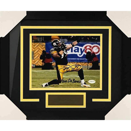 Brett Keisel Signed Bow and Arrow Stance with Fear da Beard 8x10 Photo - Professionally Framed
