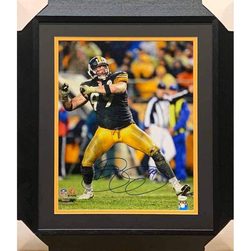 Brett Keisel Signed Muddy Celebration 16x20 Photo - Professionally Framed